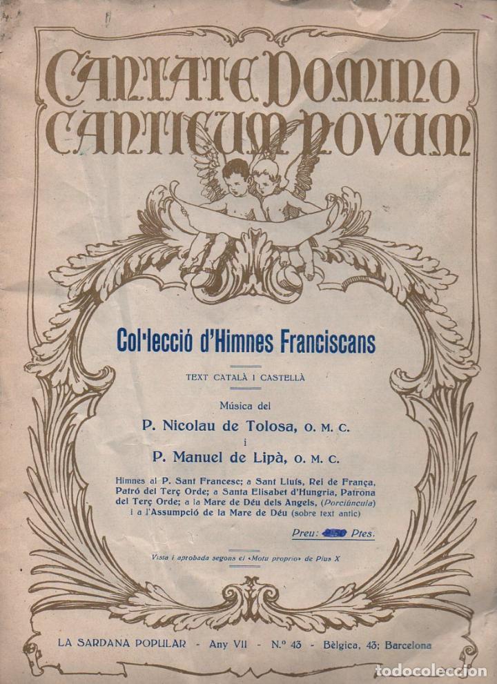 COL.LECCIÓ D' HIMNES FRANCISCANS (LA SARDANA POPULAR, C. 1920) (Música - Partituras Musicales Antiguas)