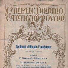 Partituras musicales: COL.LECCIÓ D' HIMNES FRANCISCANS (LA SARDANA POPULAR, C. 1920). Lote 90645645
