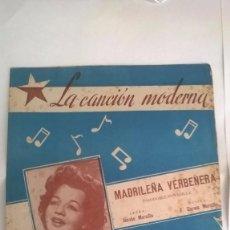 Partituras musicales - PARTITURA PASODOBLE TONADILLA MADRILEÑA VERBENERA - UNION MUSICAL ESPAÑOLA - 91739900