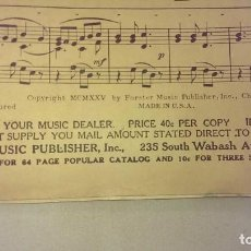 Partituras musicales: ANTIGUA PARTITURA TANGO COLECCION EL TROPEZON ANTONIO CURTIS EDITADA EN CHICAGO AÑO 1927 VINTAGE. Lote 93099645