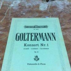 Partituras musicales: PARTITURA MUSICAL VIOLONCELO & PIANO. Lote 93187795