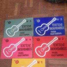 Partituras musicais: CUADERNOS 1,2,3,4,5 ÉXITOS INOLVIDABLES PARA GUITARRA. Lote 190936052
