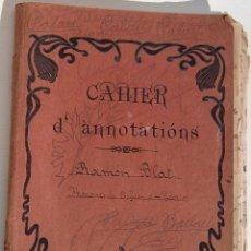 Partituras musicales: LIBRETA ANOTACIONES MOCIONES ARMONIA-TEORIA DE LA MÚSICA, RAMON BLAT PALAU. . Lote 95230043