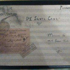Partituras musicales: MUSICA, MANUEL GARCIA MATOS, AÑO 1936, REPERTORIO, PEPITA MARTINEZ- DE SANTA CRUZ- BAILE. VER FOTOS. Lote 95535023