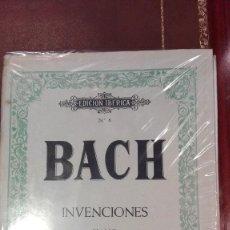 Partituras musicales: CUADERNO DE PARTITURAS EDICION IBERICA Nº6.BACH.INVENCIONES.EDICION COMPLETA.ED.BOILEAU. Lote 95616771