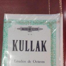 Partituras musicales: CUADERNO DE PARTITURAS EDICION IBERICA Nº76.KULLAK.ESTUDIO DE OCTAVAS II.ED.BOILEAU. Lote 95618239