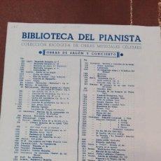 Partituras musicales: CUADERNO DE PARTITURAS BIBLIOTECA DEL PIANISTA Nº 1078.SEIS PIEZAS BREVES.ED.BOILEAU. Lote 95619267