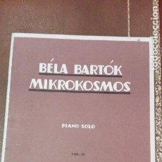 Partituras musicales: CUADERNO DE PARTITURAS BELA BARTOK. MIKROKOSMOS.PIANO SOLO.VOL.II.ED.BOOSEY E HAWKES. Lote 95619843