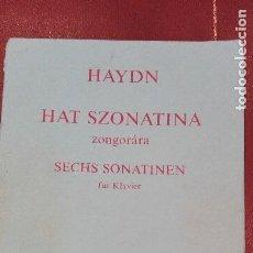 Partituras musicales: CUADERNO DE PARTITURAS HAYDN.HAT SZONATINA ZONGORARA.Z-3292.EDITIO MUDICA BUDAPEST.. Lote 95620239