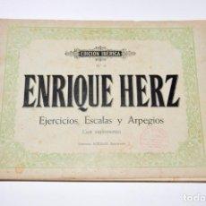 Partituras musicales: EDICION IBERICA Nº 9 – ENRIQUE HERZ - EJERCICIOS, ESCALAS Y ARPEGIOS - PIANO. Lote 95793766
