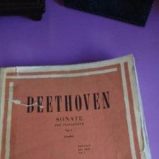 Partituras musicales: PARTITURAS: SONATAS BEETHOVEN EDICIÓN RICORDI. Lote 95903291
