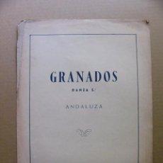 Partituras musicales: PARTITURA DE E GRANADOS DANZA ANDALUZA Nº 5 - EDITORIAL UNION MUSICAL ESPAÑOLA. Lote 95979035