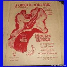 Partituras musicales: 1953 PARTITURA LA CANCION DEL MOULIN ROUGE DE JOHN HUSTON GEORGES AURIC . Lote 97011239