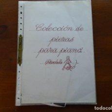 Partituras musicales: COLECCIÓN PIEZAS PARA PIANO, 18 HOJAS. Lote 97526883
