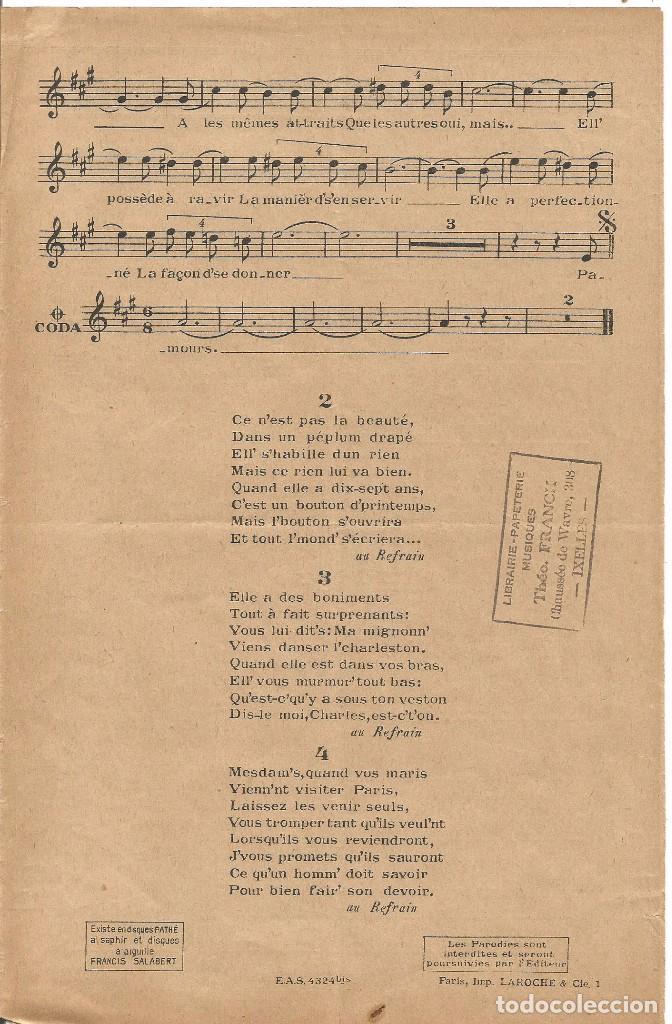 Partituras musicales: MISTINGUETT AU MOULIN ROUGE CA... C'EST PARIS PARTITURA PIANO 1927 LETRA MUSICA DE JOSE PADILLA - Foto 3 - 97769063
