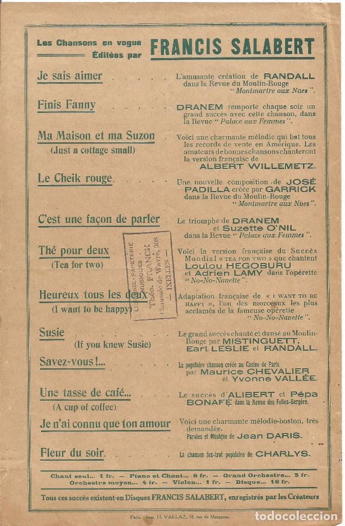 Partituras musicales: MISTINGUETT AU MOULIN ROUGE CA... C'EST PARIS PARTITURA PIANO 1927 LETRA MUSICA DE JOSE PADILLA - Foto 4 - 97769063