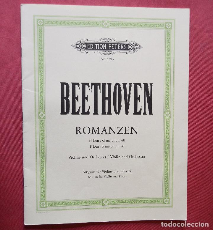 BEETHOVEN - ROMANZEN - EDITION PETERS - PARTITURA (Música - Partituras Musicales Antiguas)