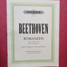 Partituras musicales: BEETHOVEN - ROMANZEN - EDITION PETERS - PARTITURA. Lote 97851167