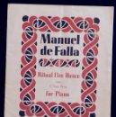 Partituras musicales: PARTITURA MANUEL DE FALLA - RITUAL FIRE DANCE - FOR PIANO - EL AMOR BRUJO - CHESTER MUSIC. Lote 97863215