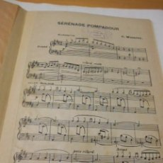 Partituras musicales: PARTITURA VARIOS INSTRUMENTOS. C. WORSLEY: SERENADE POMPADOUR. CUBIERTA DE CARTULINA. Lote 97872795