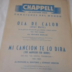 Partituras musicales: PARTITURA DE VARIOS INSTRUMENTOS. CANCIONES DEL MUNDO. SEGOVIA: TE ESCRIBO Y LUIS CACERES: TU ULTIMA. Lote 98229763