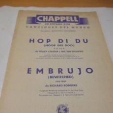 Partituras musicales: PARTITURA DE VARIOS INSTRUMENTOS. CANCIONES DEL MUNDO. HOP DI DU. POLKA Y EMBRUJO. FOX TROT. 1941.. Lote 98345763