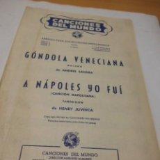 Partituras musicales: PARTITURA DE VARIOS INSTRUMENTOS. CANCIONES DEL MUNDO. GONDOLA VENECIANA BOLERO DE ANDRES SANDRA. A . Lote 98346223
