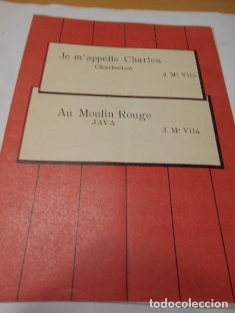 PARTITURA PARA VIOLIN Y PIANO. J. Mª VILA: JE M'APPELLE CHARLES. CHARLESTON Y AU MOULIN ROUGE. JAVA. (Música - Partituras Musicales Antiguas)