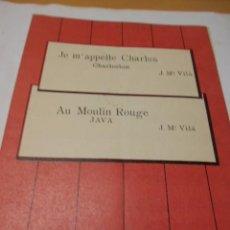 Partituras musicales: PARTITURA PARA VIOLIN Y PIANO. J. Mª VILA: JE M'APPELLE CHARLES. CHARLESTON Y AU MOULIN ROUGE. JAVA.. Lote 98349799