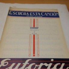 Partituras musicales: PARTITURA PARA VARIOS INSTRUMENTOS: FERMN FRANSOY: ESCUCHA ESTA CANCION Y R. CAMACHO: EUFORIA.. Lote 98351339