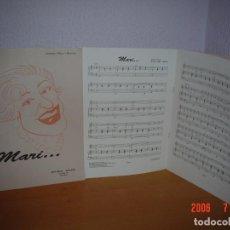 Partituras musicales: PARTITURA HOMENAJE A MARY SAMPERE, CÓMICA CATALANA. Lote 98495587