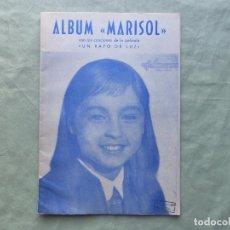 Partituras musicales: LIBRILLO PARTITURAS ALBUM MARISOL. CANCIONES DE LA PELÍCULA UN RAYO DE LUZ. GRAFISPANIA 1962.. Lote 98577183