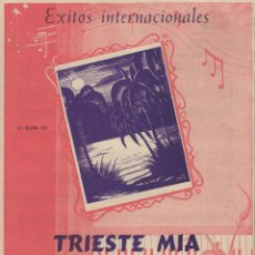 Partituras musicales: PARTITURA TRISTE MIA G. VIEZZOLI - TE VOIO BEN BRUNO BIDOLI. Lote 98591411