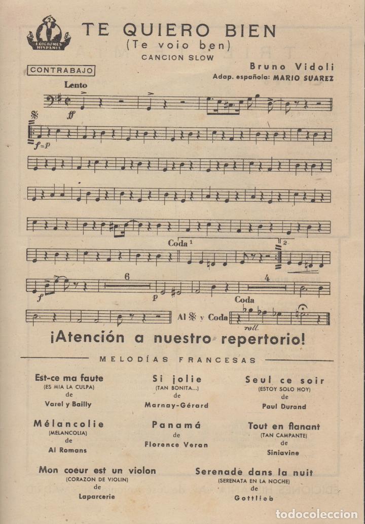 Partituras musicales: partitura triste mia g. viezzoli - te voio ben bruno bidoli - Foto 2 - 98591411