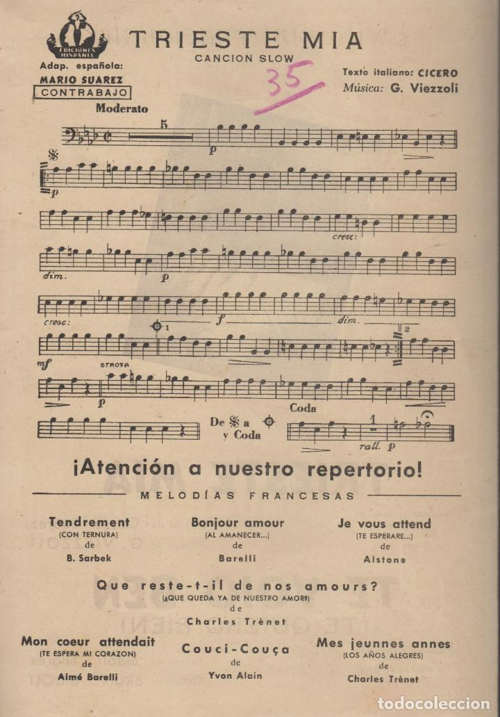 Partituras musicales: partitura triste mia g. viezzoli - te voio ben bruno bidoli - Foto 3 - 98591411