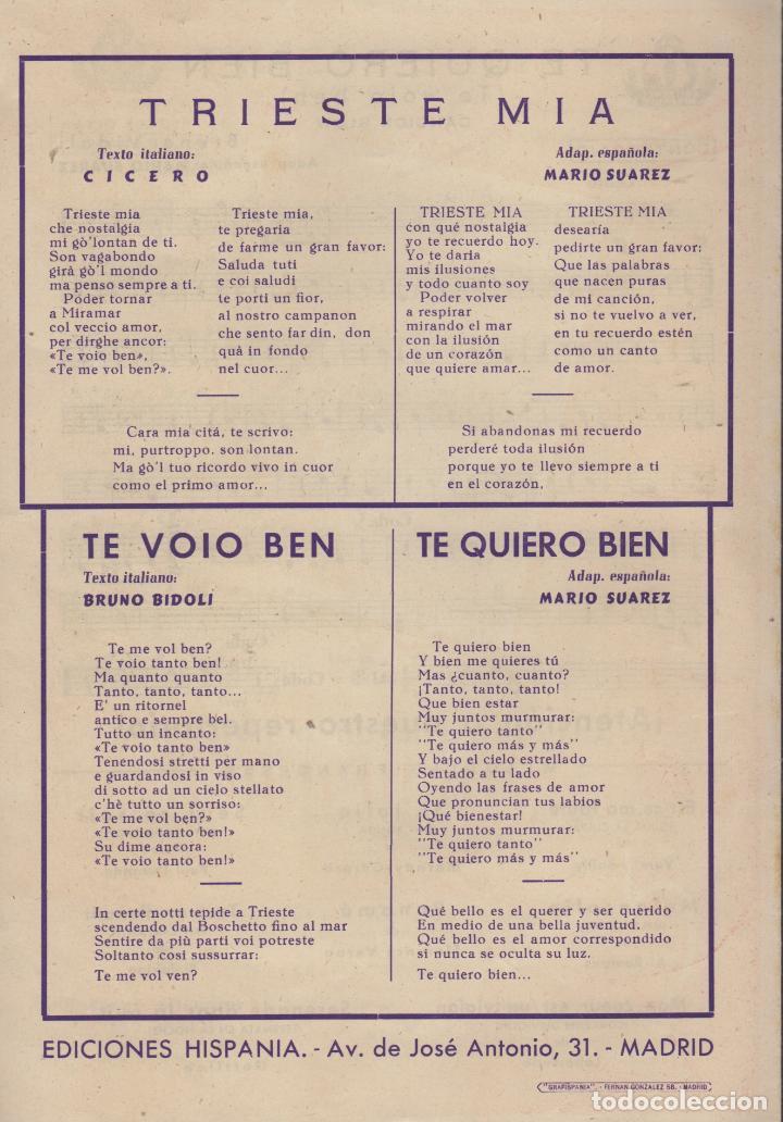 Partituras musicales: partitura triste mia g. viezzoli - te voio ben bruno bidoli - Foto 4 - 98591411
