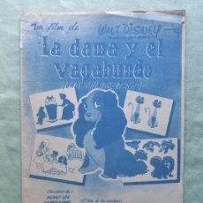 Partituras musicales: LIBRILLO PARTITURAS LA DAMA Y EL VAGABUNDO. ED POR CANCIONES DEL MUNDO, BARCELONA. AÑOS 50. DISNEY. Lote 149473434