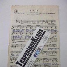 Partituras musicales: PARTITURA SOLA. LOS BRINCOS. + BORRACHO INSTRUMENTOS EN DO. TDKP6. Lote 160041562