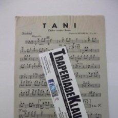 Partituras musicales: PARTITURA TANI. CELEBRE CANCION. FARRUCA. TROMBON. TROMPETA. MUSICA MONREAL. TDKP6. Lote 99060683