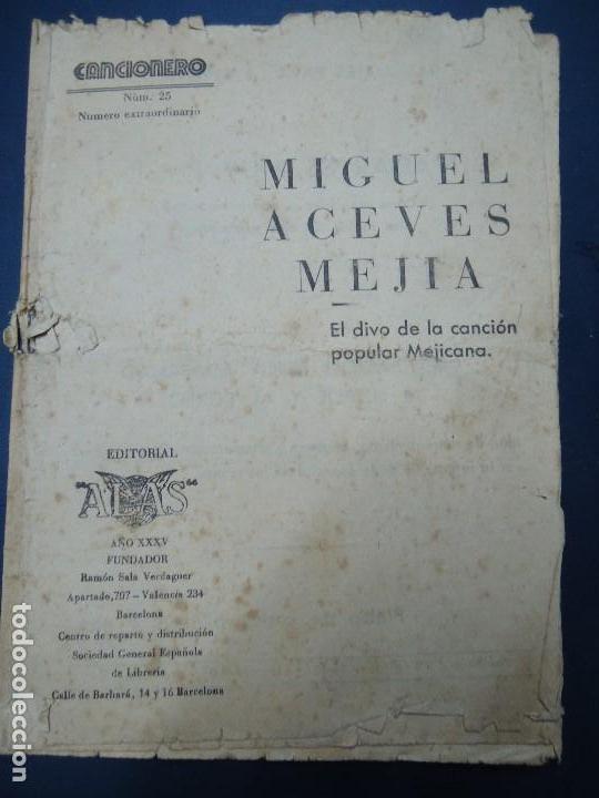 Partituras musicales: 1956 CANCIONERO DE MIGUEL ACEVES MEJIA CON 16 PÁGINAS - Foto 2 - 99798727