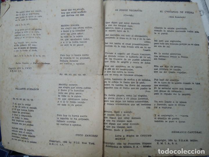 Partituras musicales: 1956 CANCIONERO DE MIGUEL ACEVES MEJIA CON 16 PÁGINAS - Foto 8 - 99798727