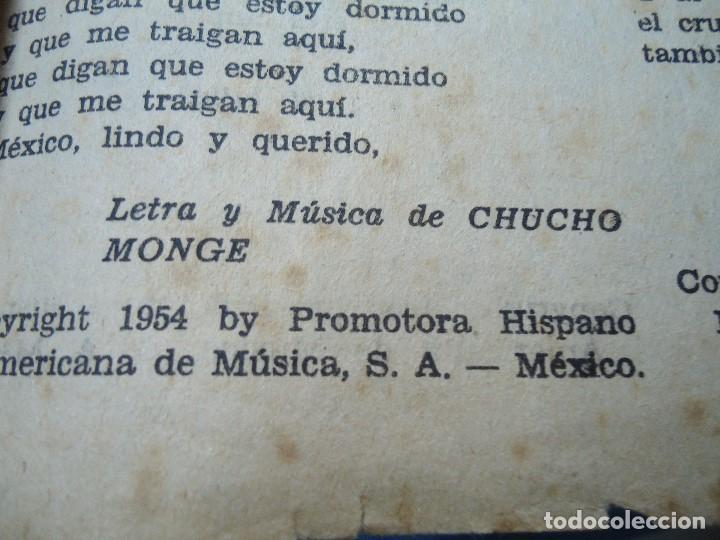 Partituras musicales: 1956 CANCIONERO DE MIGUEL ACEVES MEJIA CON 16 PÁGINAS - Foto 9 - 99798727