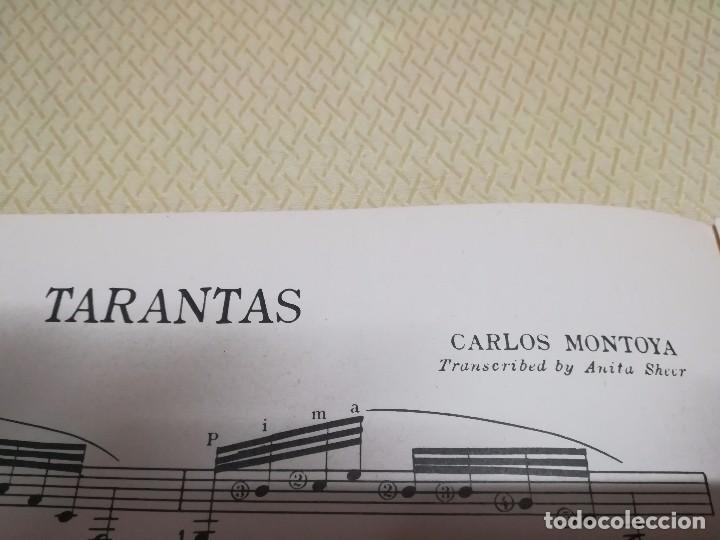 Partituras musicales: Rara Partitura de música para guitarra Carlos Montoya tarantas año 1957 miren fotos - Foto 6 - 99904963