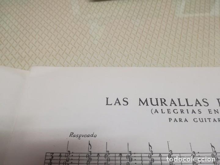 Partituras musicales: Rara Partitura de música para guitarra luis maravilla las murallas de cadiz u.m.e año 1964 - Foto 3 - 99905287