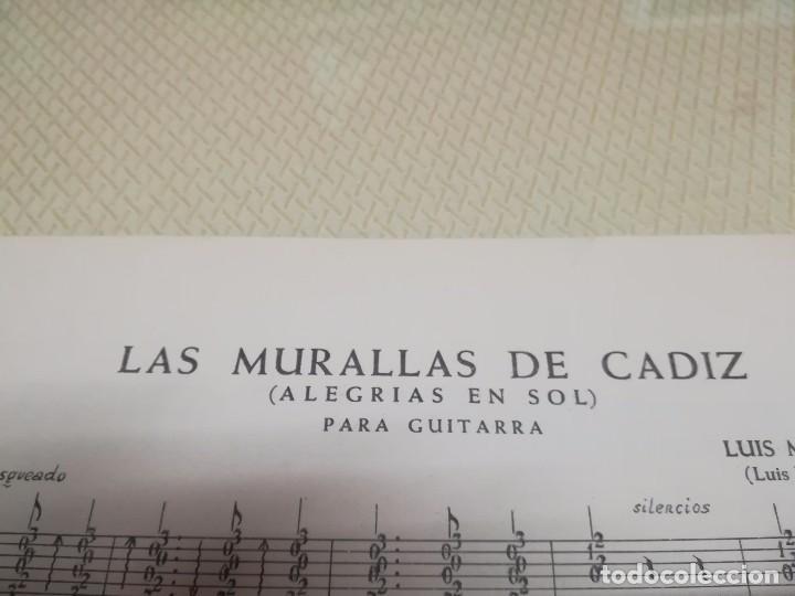 Partituras musicales: Rara Partitura de música para guitarra luis maravilla las murallas de cadiz u.m.e año 1964 - Foto 5 - 99905287