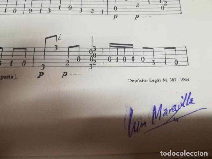 Partituras musicales: Rara Partitura de música para guitarra luis maravilla las murallas de cadiz u.m.e año 1964 - Foto 7 - 99905287