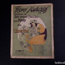 Partituras musicales: EL CLAVEL, FLORES MUSICALES SEIS PIEZAS FACILES PARA PIANO. Lote 101149707