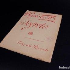 Partituras musicales: SEGRETO DE F. PAOLO TOSTI. Lote 101150055