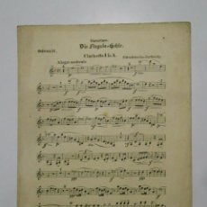 Partituras musicales: PARTITURA DIE FINGALS-HOHLE. EN ALEMAN. CLARINETTO. ODEON 55. TDKP2. Lote 101920487