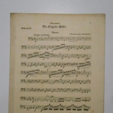 Partituras musicales: PARTITURA DIE FINGALS-HOHLE. EN ALEMAN. BASSO. ODEON 55. TDKP2. Lote 101920511